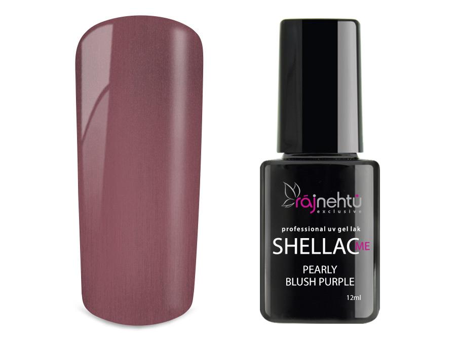 Ráj nehtů UV gel lak Shellac Me 12ml - Pearly Blush Purple