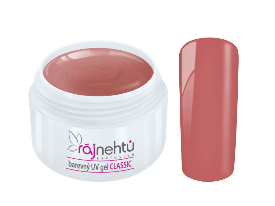 Ráj nehtů Barevný UV gel CLASSIC - Dusky Pink 5ml