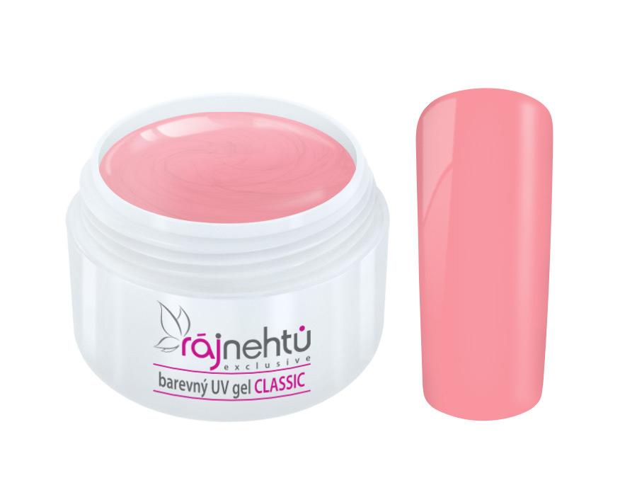 Ráj nehtů Barevný UV gel CLASSIC - Pink Bubble 5ml