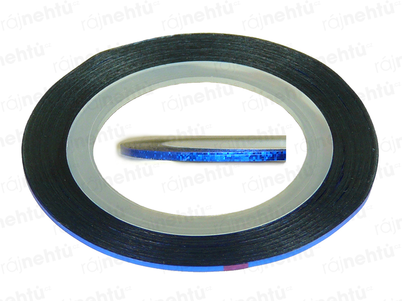 Zdobiaca páska - glitter modrá