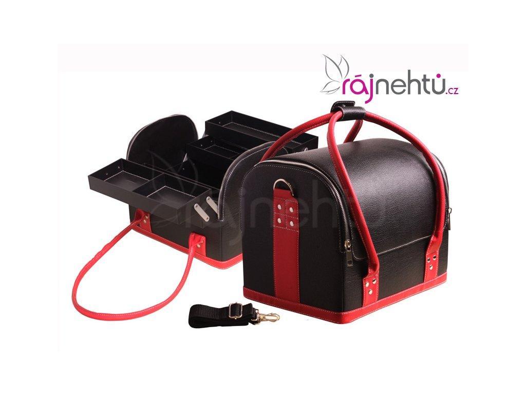 Raj nechtov Kozmetický kufrík - čierno-červený