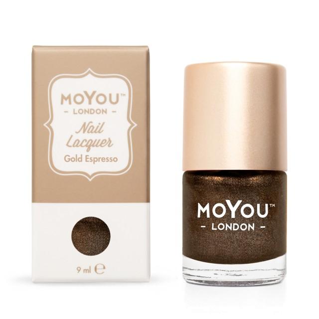 MoYou Pečiatkovací lak na nechty - Gold Espresso 9ml