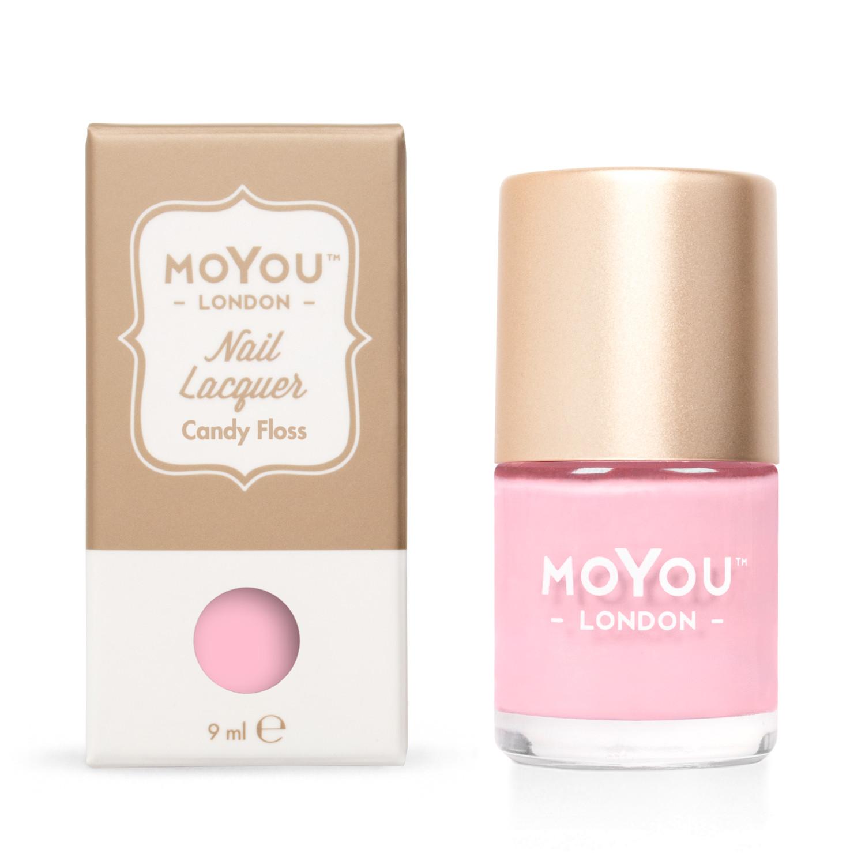 MoYou Pečiatkovací lak na nechty - Candy Floss 9 ml