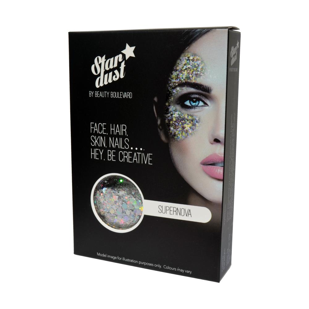 Beauty Boulevard Stardust - vodoodolné trblietky na telo a vlasy - Supernova