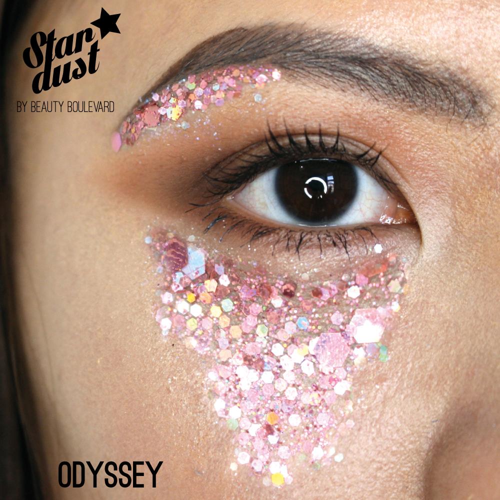 Beauty Boulevard Stardust - vodoodolné trblietky na telo a vlasy - Odyssey