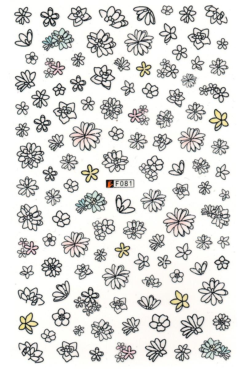 Samolepky XL - kvety (F81)