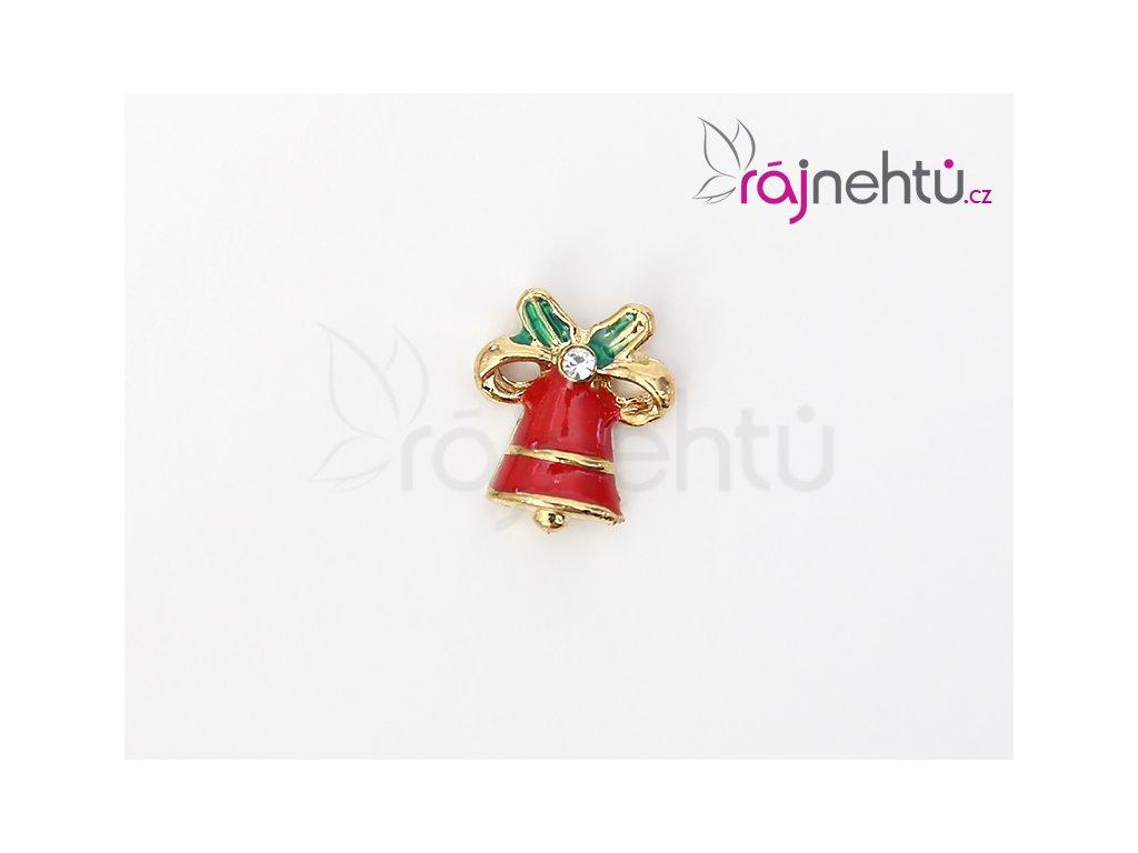 Vánoční 3D zdobení - červený zvoneček