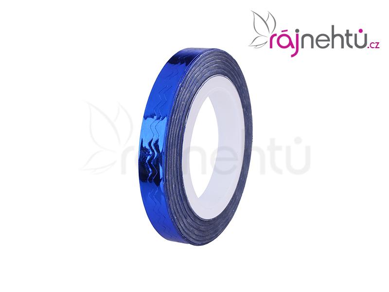 Zdobiaca páska vlnka - modrá