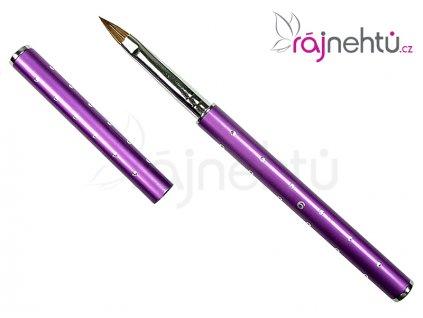 Štětec na nehty č. 6 - glitter, fialový