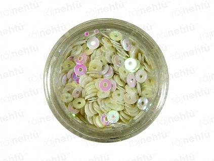 Zdobení na nehty, kolečka (dutá) CDčka - bílá