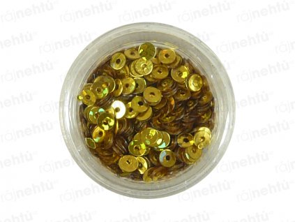 Zdobení na nehty, kolečka (dutá) CDčka - zlatá