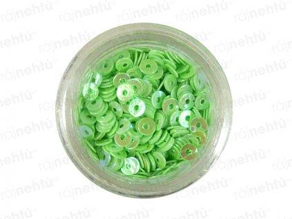 Zdobení na nehty, kolečka (dutá) CDčka - zelená