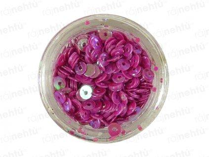 Zdobení na nehty, kolečka (dutá) CDčka - magenta
