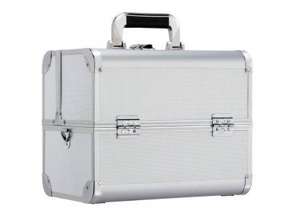 Kosmeticky kufrik luxury stribrny 1