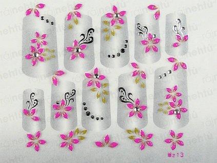 Samolepky na nehty 3D - růžové RS2