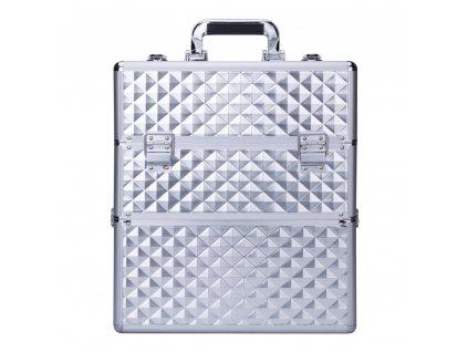 Kosmetický kufřík SENSE 2v1 3D diamonds stříbrný_1