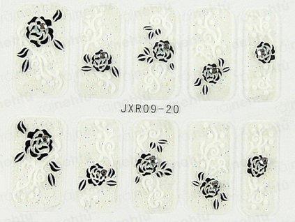 Samolepky na nehty 3D - serie JXR20