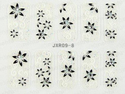 Samolepky na nehty 3D - serie JXR8