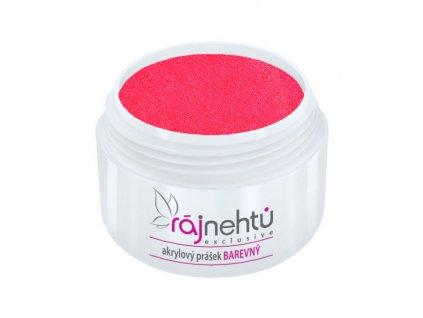 akrylovy prasek barevny Neon Pink Red