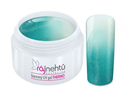 uv gel thermo turquoise white metal