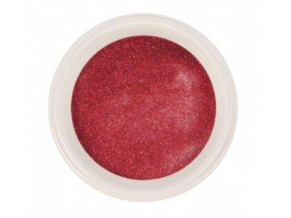 Ráj nehtů - Akrylový prášek GLITTER - Red 5g