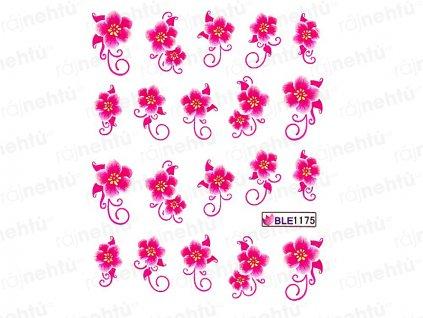 Vodolepky - kytka růžová (1175)