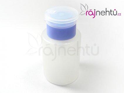 Plastový dávkovač s pumpičkou 175 ml - modrý