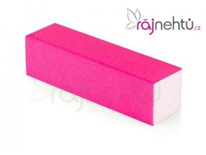 Pilník blok barevný - neon růžový