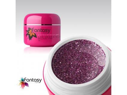 Barevný UV gel Fantasy Glitter 5g - Bellagio pink