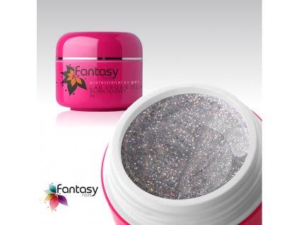 Barevný UV gel Fantasy Glitter 5g - Silver Nugget