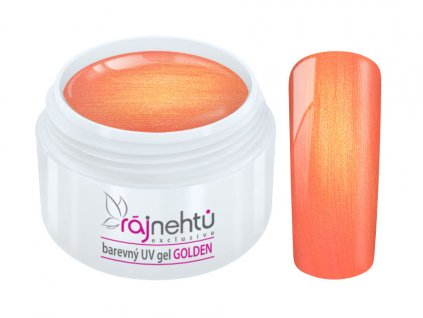 uv gel golden fire red