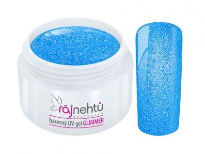uv gel neon glimmer blue modry
