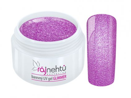 uv gel neon glimmer purple fialovy