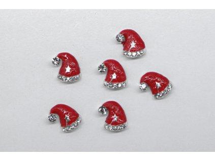 Vánoční 3D zdobení - santova čepice