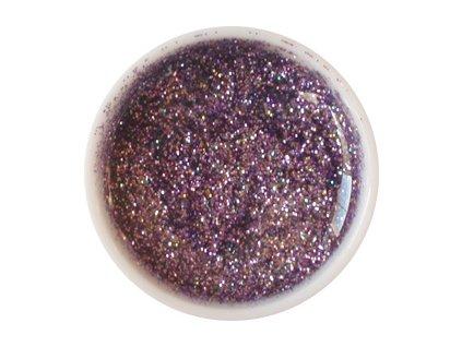 CEDRO sole - Barevný UV gel GLITTER - Fialový - 5 ml