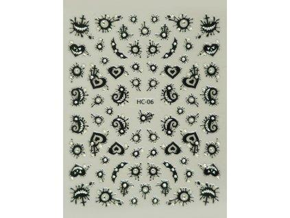 Samolepky na nehty 2D Halloween - HC-06