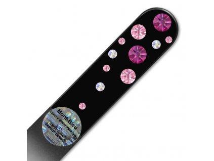 Pilník skleněný s kamínky Swarovski - Fuchsia WB-M1