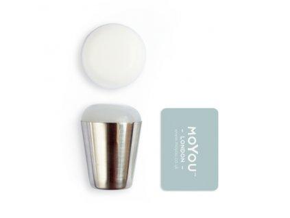 MoYou Razítko na nehty XL Marshmallow - Sticky White