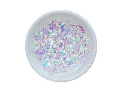 CEDRO sole - Barevný UV gel GLITTER - Čirý s duhovými holografickými nitěmi - 5 ml