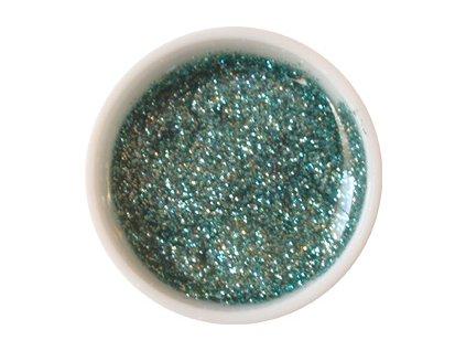 CEDRO sole - Barevný UV gel GLITTER - Ledově zelený - 5 ml