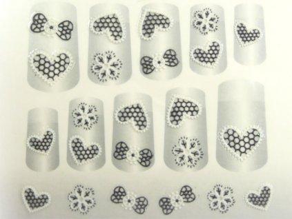 Samolepky na nehty 3D - serie K1