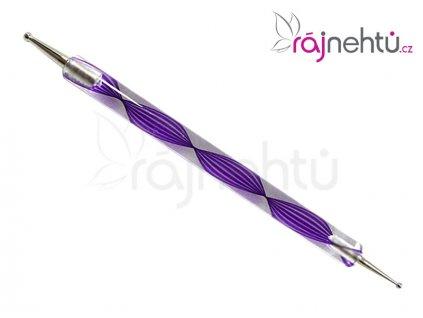 Zdobící kulička DUO - fialová