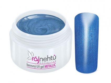 uv gel metallic blue modry