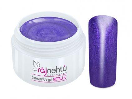 uv gel metallic violet