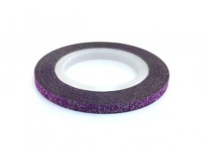 zdobici paska glitter fialova