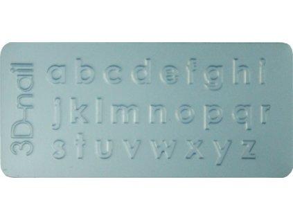 3D Šablona - Lowercase letter