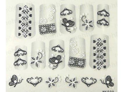 Samolepky na nehty 3D - serie K6