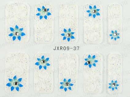 Samolepky na nehty 3D - serie JXR37