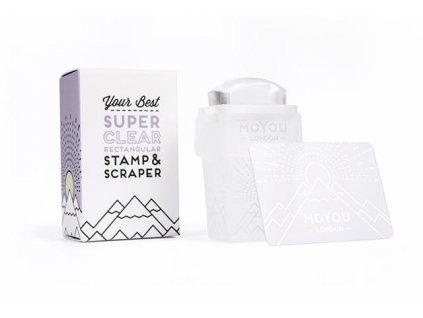 SUPER CLEAR box stamp display
