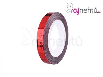 zdobící páska vlnka červená